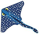 55''x42'' Ray Fish Nylon Kite -- Single-Line Kite -- #894