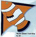 55''x42'' Clown Fish Delta Nylon Kite -- Single-Line Kite -- #897