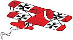 36''x24'' Red Baron 3-D Nylon Kite -- Single-Line Kite -- #967
