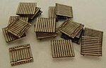 Pallets Kit (Laser-Cut Wood) - Builds 36 Items -- N Scale Model Railroad -- #1102