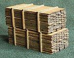 3 x 12'' Lumber Load -- 14' Loads (2) -- HO Scale Model Railroad -- #113318