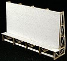 Cube Billboard -- HO Scale Model Railroad Billboard Sign -- #116014