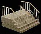 Double-Wide Stair -- The Cube Modular System Component Kit -- HO Scale -- #11604