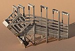 Stock Loading Ramp Kit (Laser-Cut Wood) -- HO-Scale -- #1225