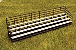 Bleachers Kit -- HO Scale Model Railroad Accessories -- #1243