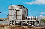 Milk Station Kit (Laser-Cut Wood) -- HO Scale Model Railroad Accessories -- #12571