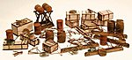 Maintenance Detail Set Kit -- HO Scale Model Railroad Building Accessory -- #1299