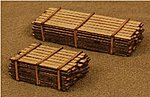3 x 12'' Lumber Load Kit -- One Each 10' & 18' Loads -- N Scale Model Railroad -- #13312