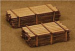 3 x 12'' Lumber Load Kit -- One Each 12' & 16' -- N Scale Model Railroad Building -- #13313