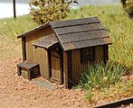 Tool Shed (Laser-Cut Wood Kit) -- N Scale Model Building -- #201