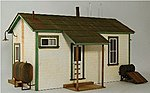 Team Yard Office Kit -- O Scale Model Building -- #3909