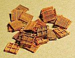 Pallet pkg(24) Kit (Laser-Cut Wood) -- Z Scale Model Railroad Accessory -- #51105