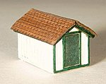 Gas House Kit (Laser-Cut Wood) -- Z Scale Model Railroad Building -- #5294