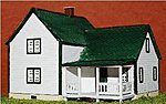 Farm House Kit (Laser-Cut Wood) -- Z Scale Model Railroad Building -- #5346