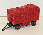 Wgn Canvas Red - HO-Scale