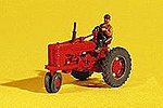 Farm Machinery ''Red'' Super M-TA Tractor -- HO Scale Model Railroad Roadway Vehicle -- #60001