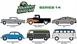 Motor World Series 14 (6) -- Diecast Model Car Set -- 1/64 Scale -- #96140