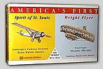 Spirit of St. Louis and Wright Brother's Flyer -- Plastic Model Airplane Kit -- 1/100 -- #03102