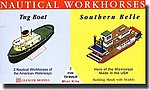 Nautical Workhorses Tug & Mississippi Southern Belle -- Plastic Model Ship Kit -- 1/400 -- #03302