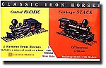 Iron Horse Locos Central Pacific & Cabbage Stack -- Plastic Model Locomotive Kit -- 1/120 -- #03602