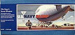 US Navy Blimp -- Plastic Model Airplane Kit -- 1/330 Scale -- #06502