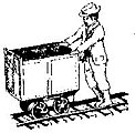 Cousin Jack Miner, Posed For Pushing Mine Cars -- O Scale Model Railroad Figure -- #3090
