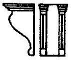 Corbels (3'8'' Double S) (12) -- HO Scale Model Railroad Building Accessory -- #5074