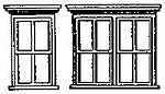 Victorian Windows 4 Single/2 Double (2 Sets) -- HO Scale Model Railroad Building Accessory -- #5116