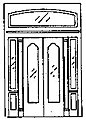 Double Door w/Sidelight & Transom -- HO Scale Model Railroad Building Accessory -- #5149