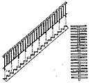 35 Concrete & Steel Staircase w/Open Risers -- HO Scale Model Railroad Building Accessory -- #5176