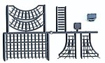Mine Car & Track - Kit - Undecorated -- HO Scale Model Railroad Building Accessory -- #5316