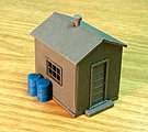 Corrugated Metal Utility Building Kit -- HO Scale Model Railroad Building -- #5914