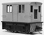 Narrow Gauge GE 23-Ton Box Cab Diesel Loco Kit w/Mabuchi Power Unit