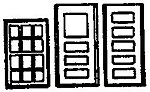 36''x56'' Window/36'' Doors (2 Sets) -- N Scale Model Railroad Building Accessory -- #8001