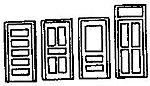 36'' Door Assortment (2 Sets) -- N Scale Model Railroad Building Accessory -- #8006