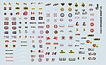 Manufacturer Sponsor Logos #2 -- Plastic Model Vehicle Decal -- 1/24 Scale -- #11011