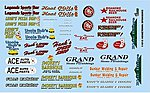 Hometown Sponsor Logos -- Plastic Model Vehicle Decal -- 1/24 Scale -- #11016