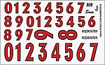 Stock Car Numbers #2 (Red) -- Plastic Model Vehicle Decal -- 1/24 Scale -- #11018