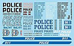Police 911 Protect & Serve -- Plastic Model Vehicle Decal -- 1/25 Scale -- #11024