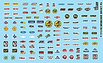 1/24-1/25 Manufacturer Sponsor Logos #3 -- Plastic Model Vehicle Decal -- #11040