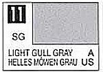 Solvent-Based Acrylic Semi-Gloss Light Gull Gray 10ml Bottle (6/Bx)