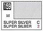 Solvent-Based Acrylic Metallic Super Silver 10ml Bottle (6/Bx)