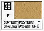 Solvent-Based Acrylic Flat Dark Yellow (Sandy Yellow) 10ml Bottle (6/Bx)
