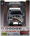 Dodge 6.1 Liter SRT 8 Hemi Engine -- Metal Body Plastic Model Engine Kit -- 1/6 Scale -- #11070