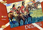 British Dragoons -- Plastic Model Military Figure Set -- 1/72 Scale -- #8033