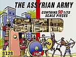 Assyrian Allied/Auxiliary -- Plastic Model Military Figure Set -- 1/72 Scale -- #8121