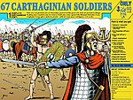 Carthaginian Army -- Plastic Model Military Figure Kit -- 1/72 Scale -- #8152