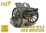 WWI British Q45 Howitzer -- Plastic Model Weapon Kit -- 1/72 Scale -- #8243
