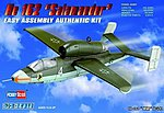Easy Build Heinkel He 162 Salamander -- Plastic Model Airplane Kit -- 1/72 Scale -- #80239