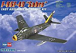 EZ F-86F-40 Sabre -- Plastic Model Airplane Kit -- 1/72 Scale -- #80259